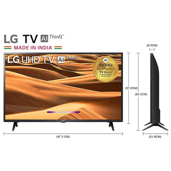 LG 108 cms 43 inches 4K Ultra HD Smart LED TV 43UM7300PTA   with Built-in Alexa PCM Black 2019 Model