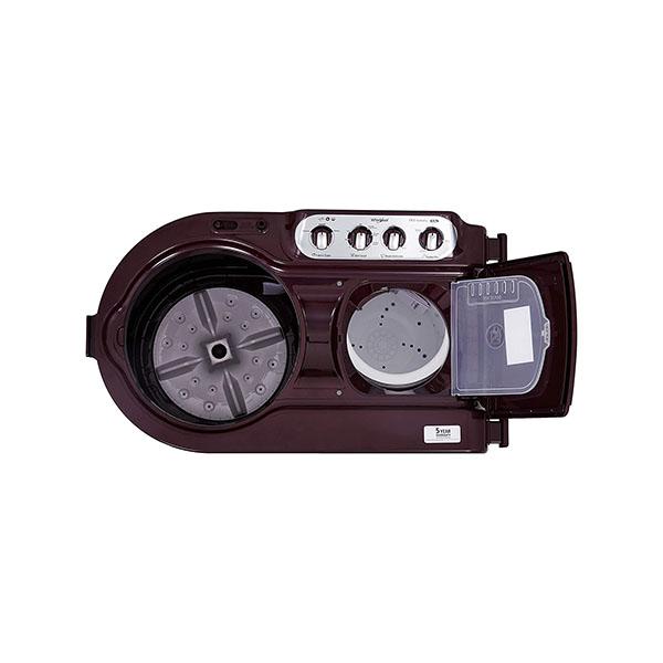 Whirlpool 8 Kg 5 Star Semi-Automatic Top Loading Washing Machine ACE 8.0 TURBO DRY, Wine Dazzle