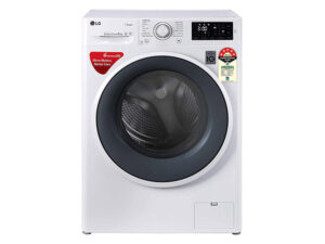 LG 6 Kg Fully Automatic, Front Loaded Washing Machine with Steam (White) FHT1006ZNW