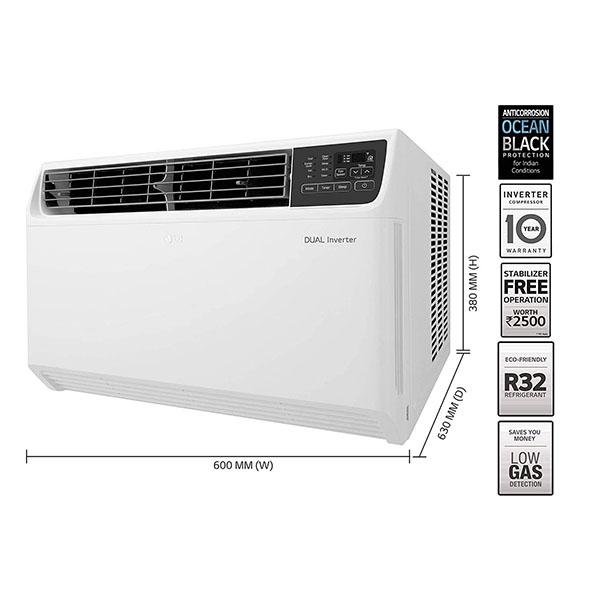 LG 1 Ton 5 Star JW-Q12WUZA Inverter Window AC