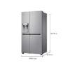 LG 668 L Frost Free Side-by-Side RefrigeratorGC-L247CLAV.APZQEBN, Shiny Steel, Inverter Compressor