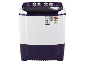 LG 8 Kg 5 Star Semi-Automatic Top Loading Washing Machine P8035SPMZ, Purple