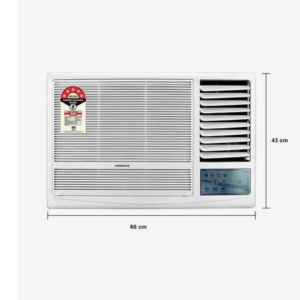 Hitachi 1.5 Ton 3 Star Window AC RAW318KUD, White
