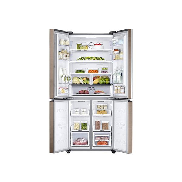 Samsung 594 L Frost Free Side-by-Side RefrigeratorRF50K5910DP/TL, Refined Bronze, Convertible, Inverter Compressor