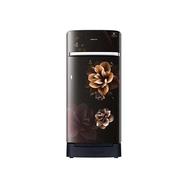 Samsung 198 L 4 Star Inverter Direct-Cool Single Door Refrigerator RR21T2H2XCB/HL, Camellia Black, Base Stand with Drawer