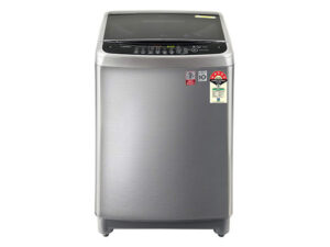 LG 10 Kg 5 Star Inverter Fully-Automatic Top Loading Washing Machine T10SJSS1Z, Stainless Steel VCM, TurboDrum