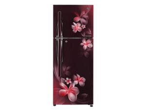 LG 260 L 3 Star Frost Free Double Door RefrigeratorGL-T292RSPN, Scarlet Plumeria, Inverter Linear Compressor