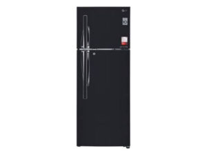 LG 284 L 3 Star Inverter Frost-Free Double Door Refrigerator (GL-T302RES3, Ebony Sheen, Convertible Plus)