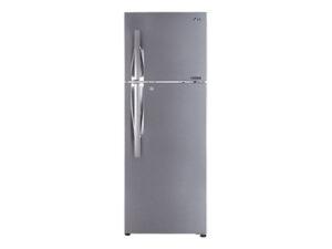 LG 335 L 3 Star Frost Free Double Door Inverter Refrigerator (GL-T372JPZ3.DPZZEBN, Shiny Steel)