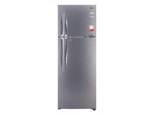 LG 360 L 2 Star Smart Inverter Frost-Free Double Door Refrigerator (GL-T402JDSY, Dazzle Steel, Convertible)