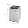 LG 6.5Kg T65SKSF1Z Fully Automatic Top Loading Washing Machine