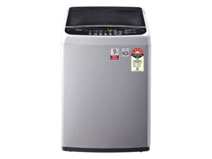 LG 6.5 Kg 5 Star Smart Inverter Fully-Automatic Top Loading Washing Machine T65SNSF1Z, Middle Free Silver, TurboDrum