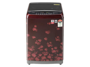 LG 7.0 Kg Inverter Fully-Automatic Top Loading Washing Machine T70SJDR1Z, Red Floral