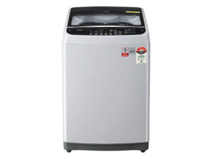 LG 7.0 Kg 5 Star Smart Inverter Fully-Automatic Top Loading Washing Machine T70SJSF3Z, Middle Free Silver, Jet Spray+