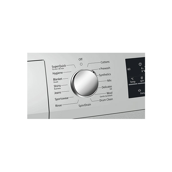 Siemens 8 kg Fully-Automatic Front Loading Washing Machine (WM14T469IN, White)