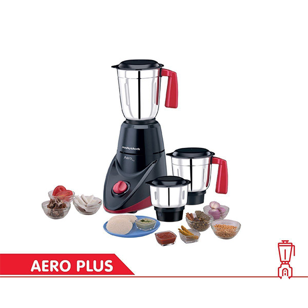 Morphy Richards Aero Plus 500-Watt Mixer Grinder with 3 Jars Black