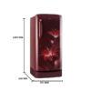 LG 215 L 4 Star Inverter Direct Cool Single Door Refrigerator Ruby Glow