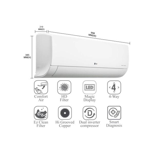 LG IDU- 2Ton 3 Star Inverter Split Ac