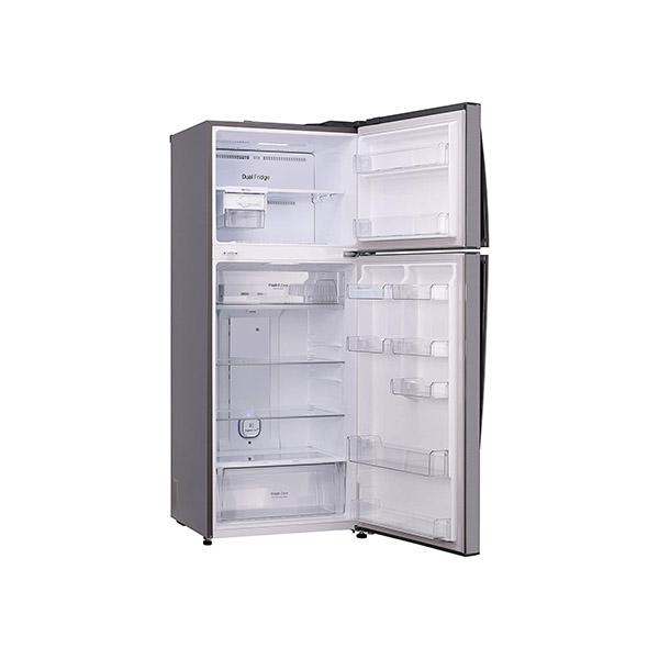 LG 471 L 2 Star Inverter Frost-Free Double-Door Refrigerator GL-T502FPZU, Shiny Steel